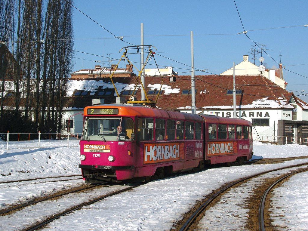 Fotogalerie » ČKD Tatra K2YU 1129 | Brno | Štýřice | Vídeňská