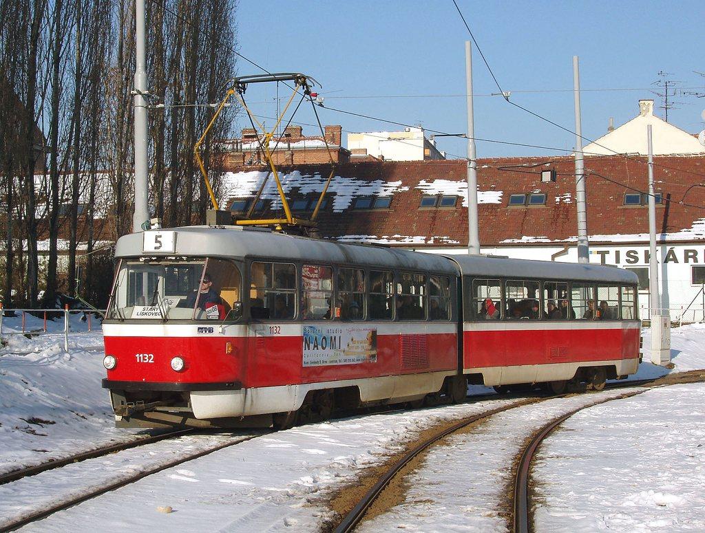 Fotogalerie » ČKD Tatra K2YU 1132 | Brno | Štýřice | Vídeňská