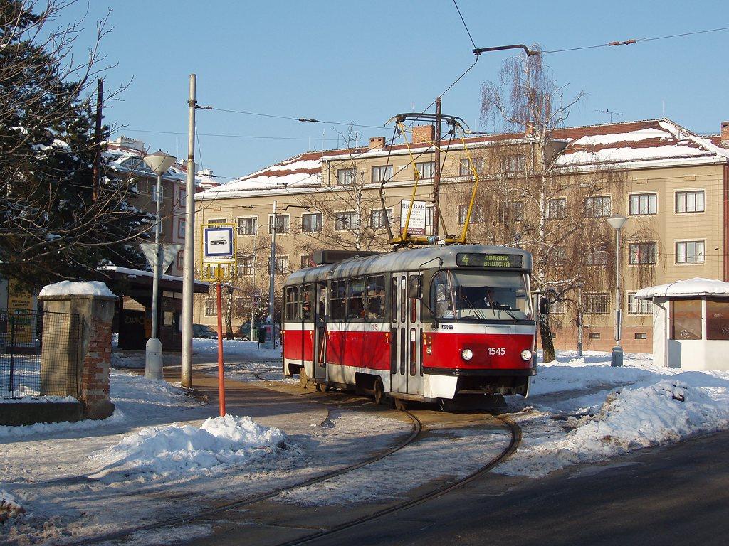 Fotogalerie » ČKD Tatra T3M 1545 | Brno | Masarykova čtvrť | Náměstí míru | Náměstí Míru, smyčka