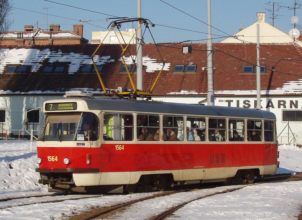 Fotogalerie » ČKD Tatra T3P 1564 | Brno | Štýřice | Vídeňská
