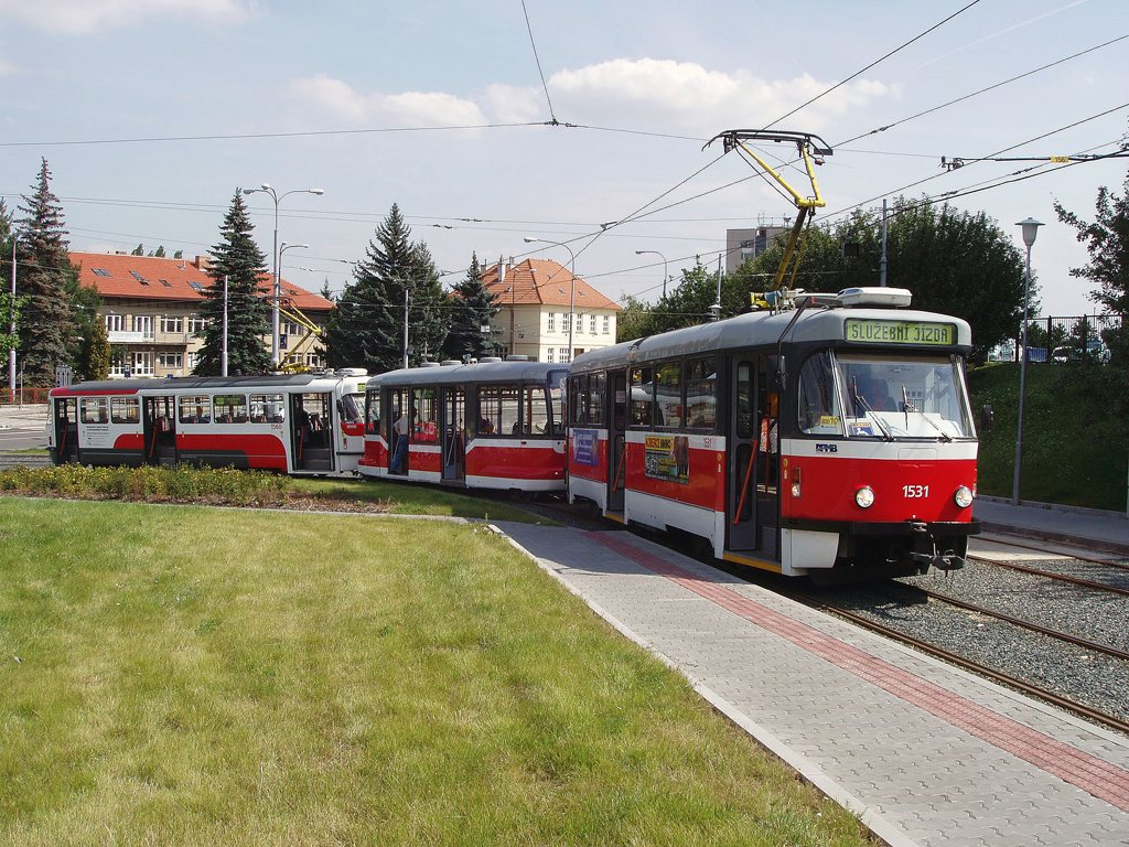 Fotogalerie » Pragoimex T3R.EV 1531 | Pragoimex VV60LF 1301 | Pragoimex T3R.EV 1560 | Brno | Medlánky | Hudcova | Vozovna Medlánky