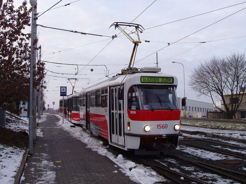 Fotogalerie » Pragoimex T3R.EV 1560 | Pragoimex VV60LF 1302 | Pragoimex T3R.EV 1562 | Brno | Medlánky | Hudcova | Vozovna Medlánky
