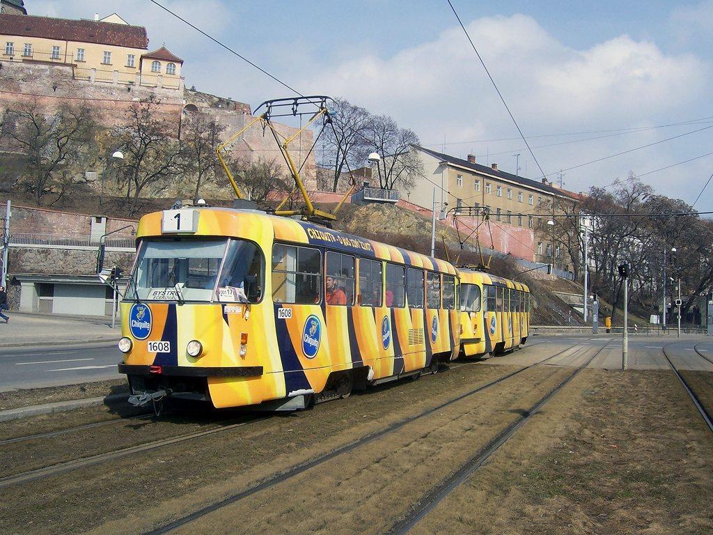 Fotogalerie » ČKD Tatra T3G 1608 | ČKD Tatra T3G 1606 | Brno | střed | Nové sady