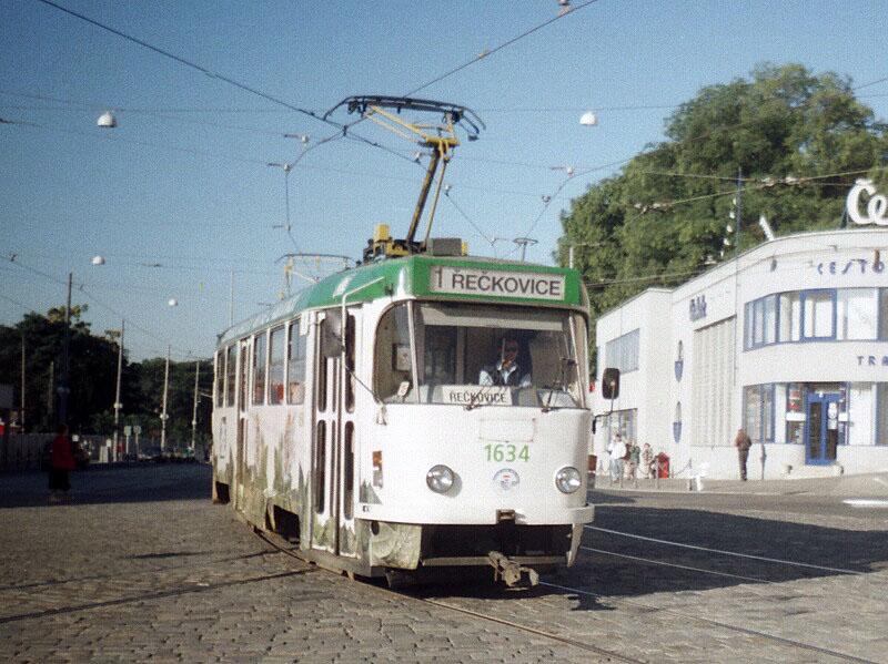 Fotogalerie » ČKD Tatra T3G 1634 | Brno | střed | Nádražní