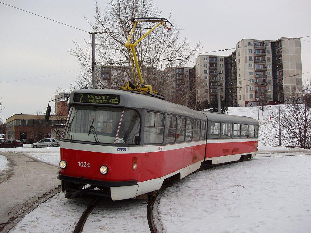 Fotogalerie » ČKD Tatra K2P 1024 | Brno | Bohunice | Švermova, smyčka