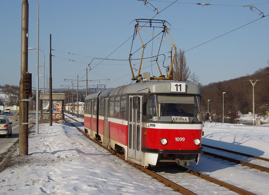 Fotogalerie » ČKD Tatra K2 1099 | Brno | Bystrc | Obvodová