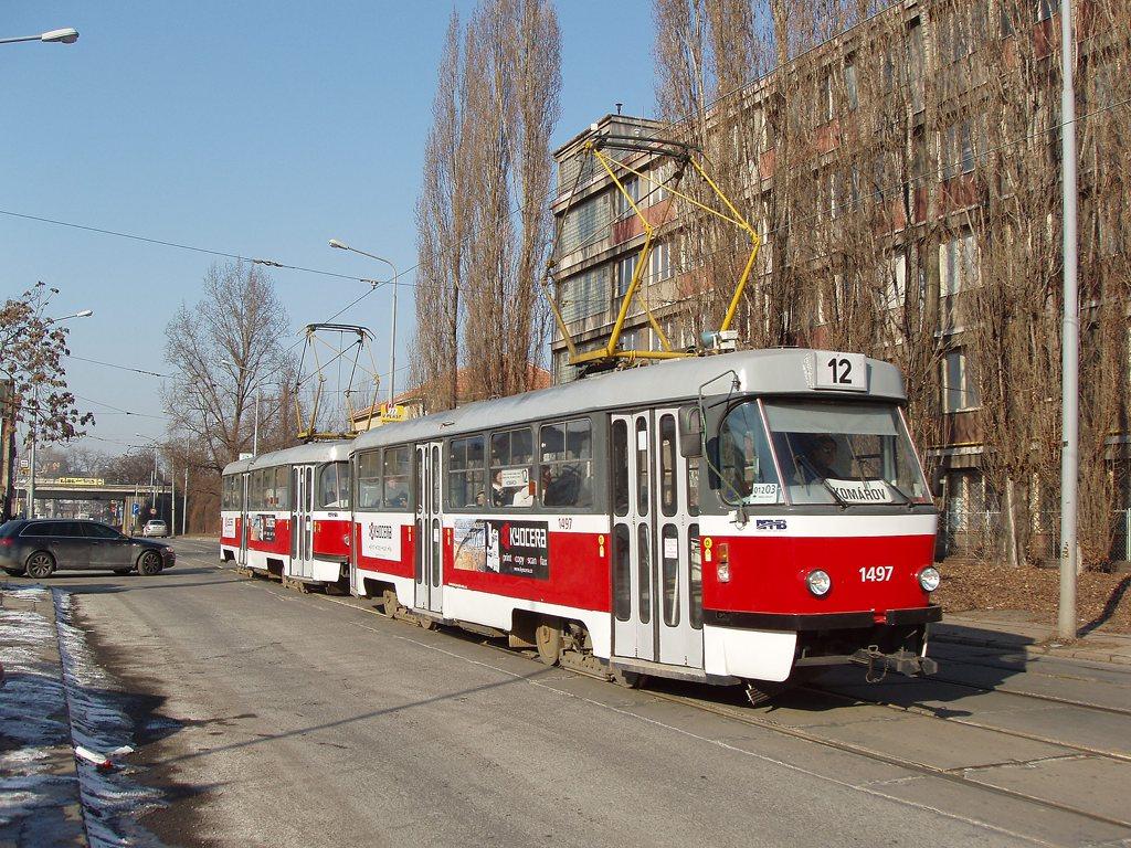 Fotogalerie » ČKD Tatra T3 1497 | ČKD Tatra T3 1511 | Brno | Komárov | Dornych