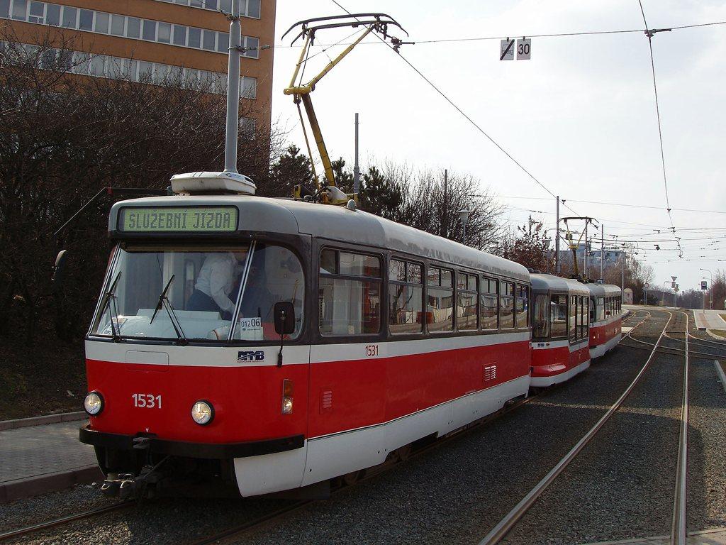Fotogalerie » Pragoimex T3R.EV 1531 | Pragoimex VV60LF 1301 | Pragoimex T3R.EV 1569 | Brno | Medlánky | Hudcova | Vozovna Medlánky
