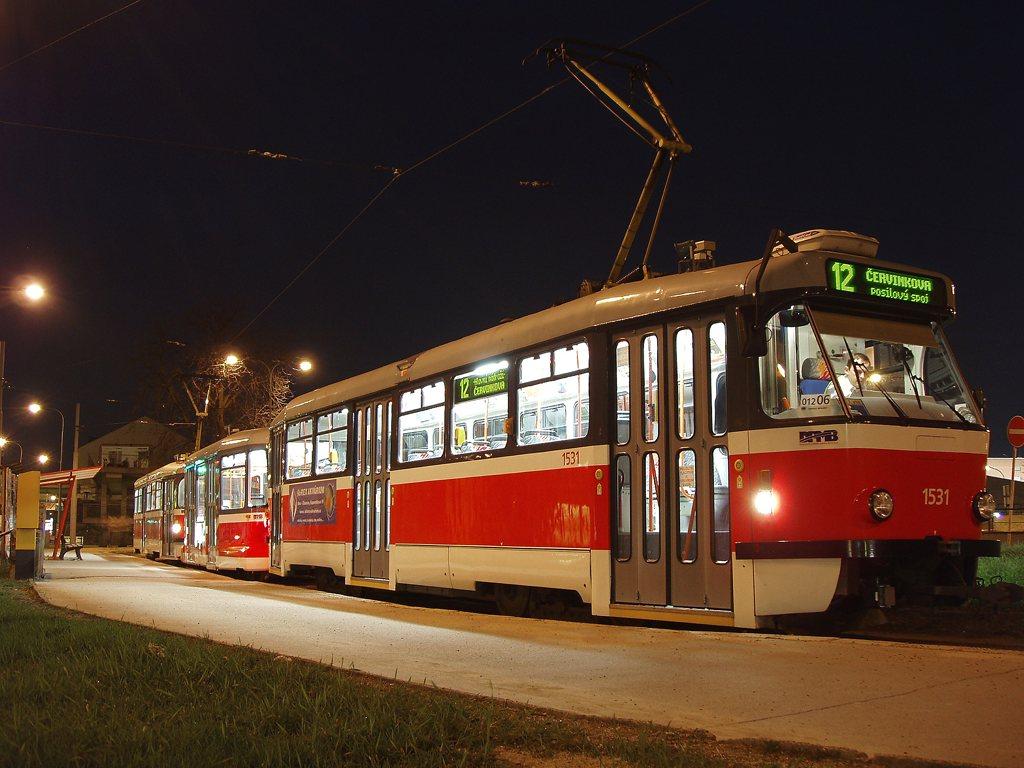 Fotogalerie » Pragoimex T3R.EV 1531 | Pragoimex VV60LF 1301 | Pragoimex T3R.EV 1569 | Brno | střed | Zvonařka | Zvonařka, smyčka