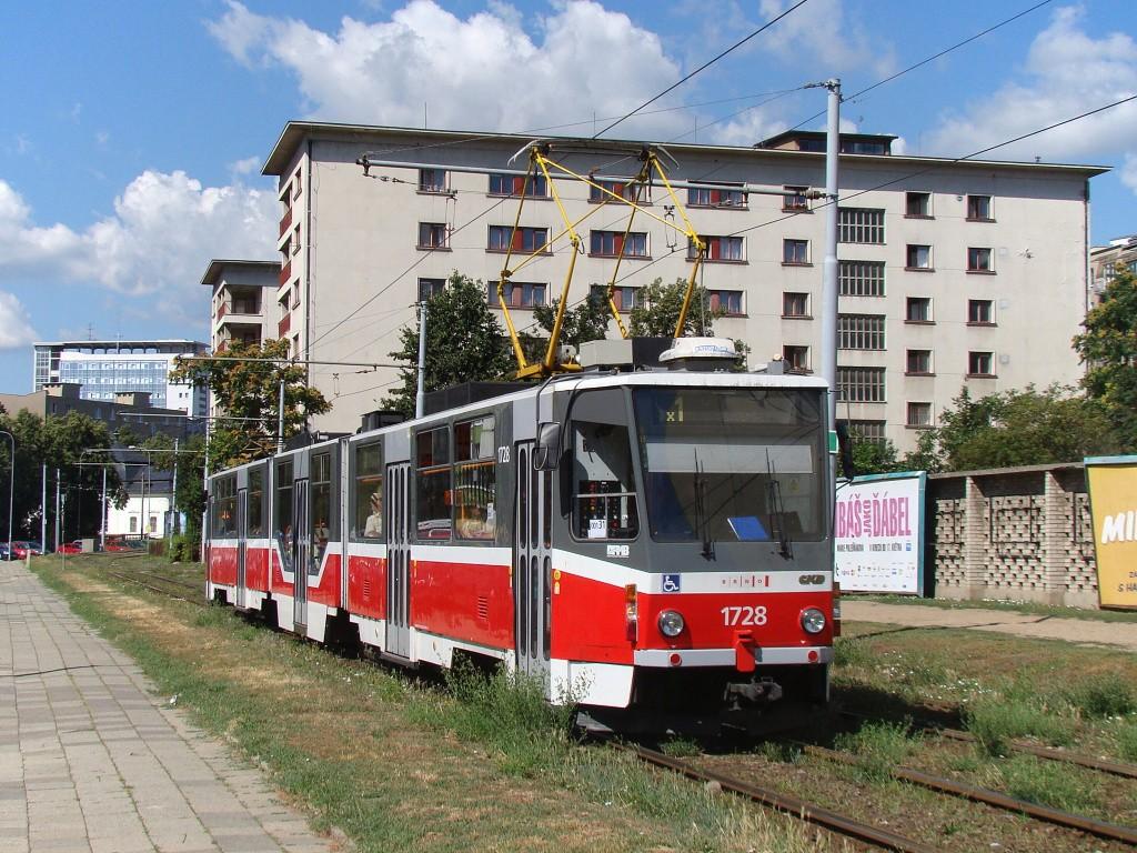Fotogalerie » ČKD Tatra KT8D5R.N2 1728   Brno   Staré Brno   Veletržní
