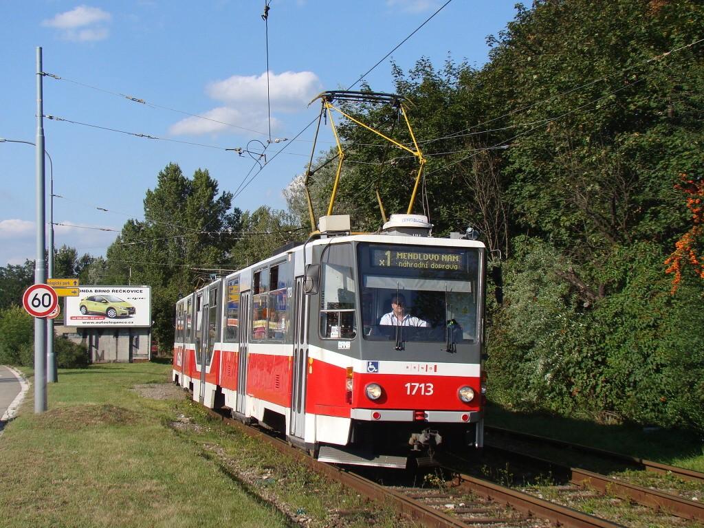 Fotogalerie » ČKD Tatra KT8D5R.N2 1713 | Brno | Žabovřesky | Žabovřeská
