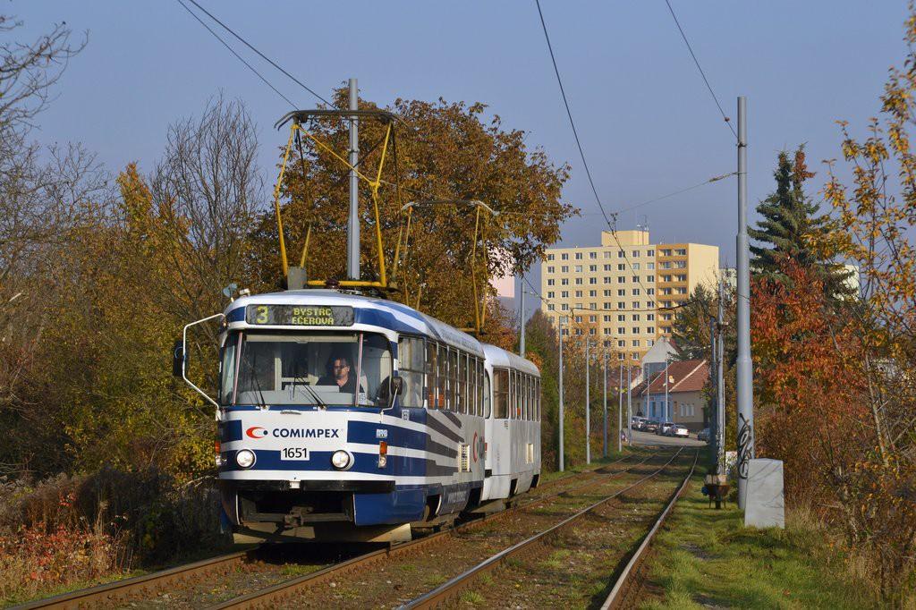 Fotogalerie » ČKD Tatra T3G 1651 | ČKD Tatra T3G 1652 | Brno | Žabovřesky