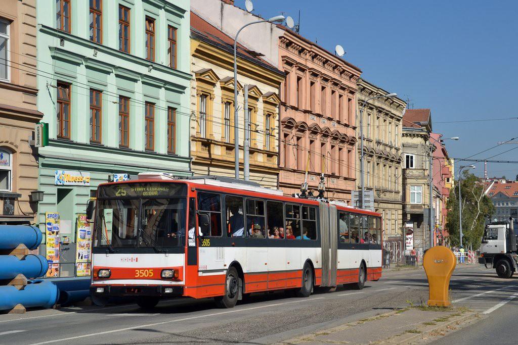 Fotogalerie » Škoda 15TrM 3505   Brno   střed   Pionýrská