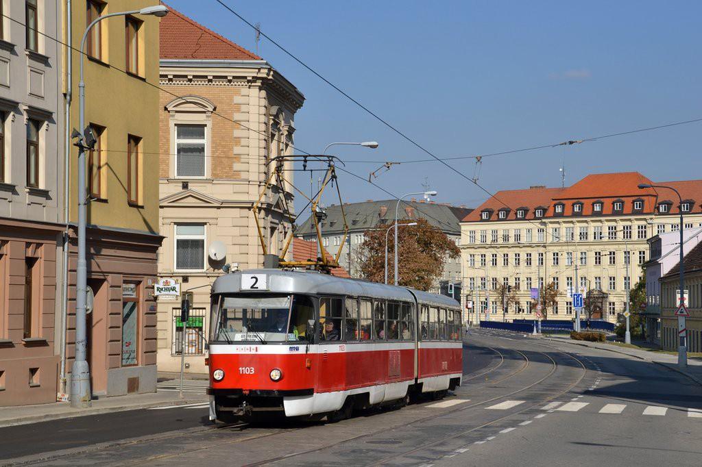 Fotogalerie » ČKD Tatra K2 1103 | Brno | Staré Brno | Vídeňská