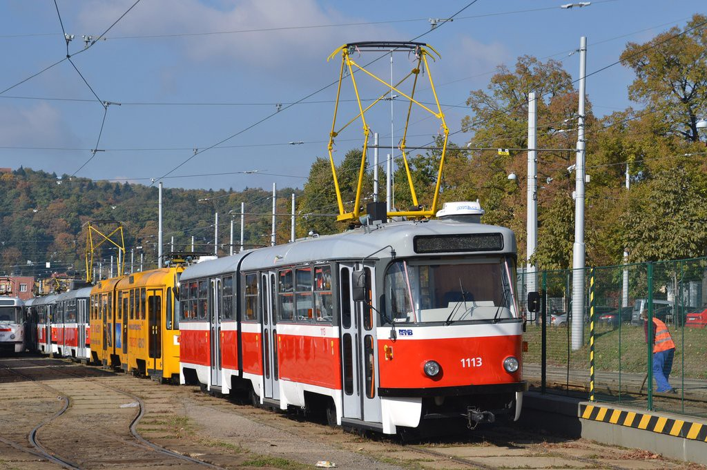 Fotogalerie » ČKD Tatra K2 1113 | Brno | vozovna Pisárky