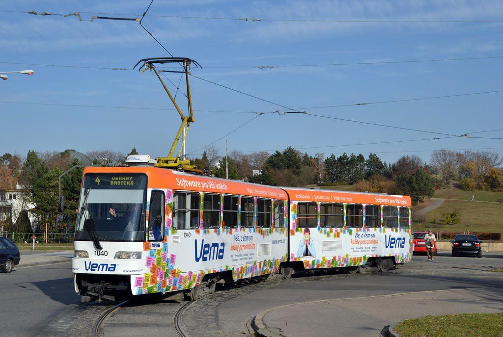 Fotogalerie » ČKD Tatra K2R03-P 1040 | Brno | Masarykova čtvrť | Náměstí míru | Náměstí Míru, smyčka