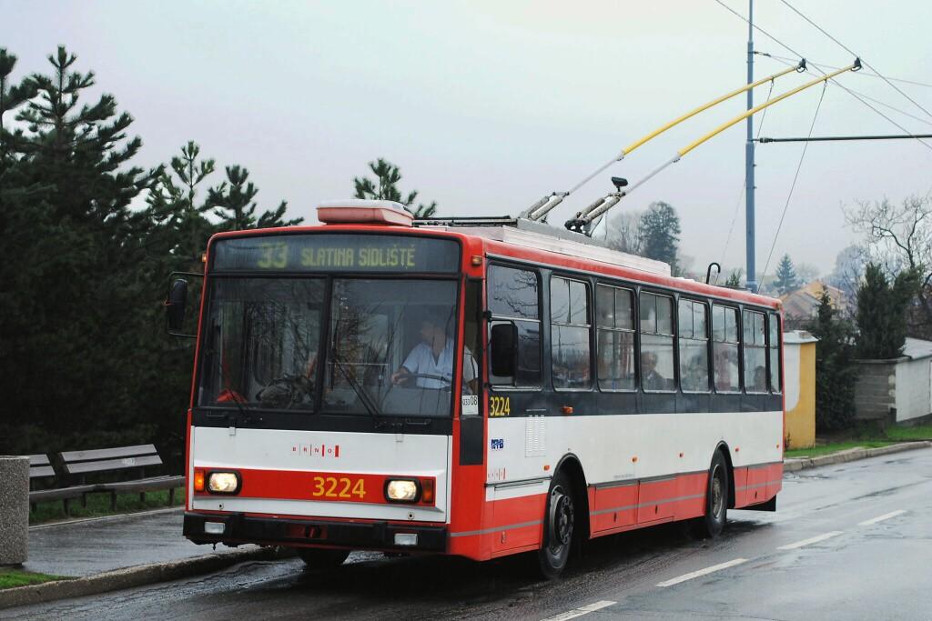 Fotogalerie » Škoda 14TrR 3224 | Brno | Slatina | Mikulčická | Kroměřížská