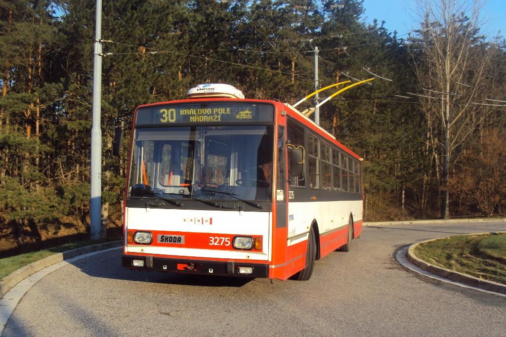 Fotogalerie » Škoda 14TrR 3275 | Brno | Bystrc | Černého | Černého