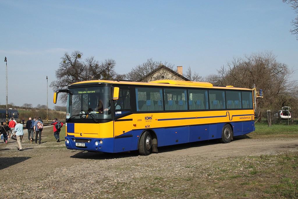 Fotogalerie » Karosa Axer 12M C956.1074 2B5 2733 | Valtice | Mikulovská | Valtice, železniční stanice