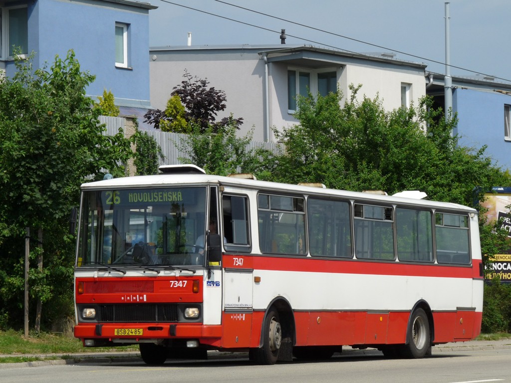Fotogalerie » Karosa B732.1654 BSB 24-85 7347 | Brno | Vinohrady | Věstonická | Mutěnická