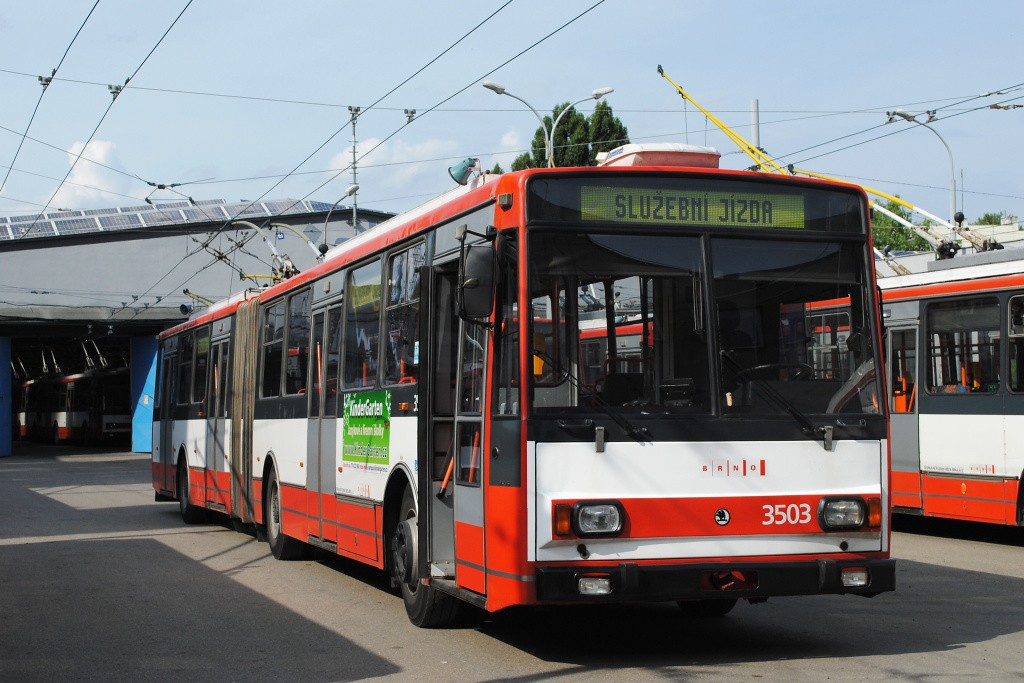 Fotogalerie » Škoda 15TrM 3503 | Brno | Husovice | Svitavská | Vozovna Husovice