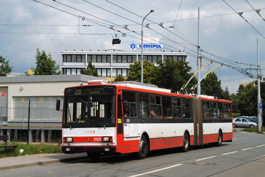 Fotogalerie » Škoda 15TrM 3503 | Brno | Žabovřesky | Přívrat | Přívrat