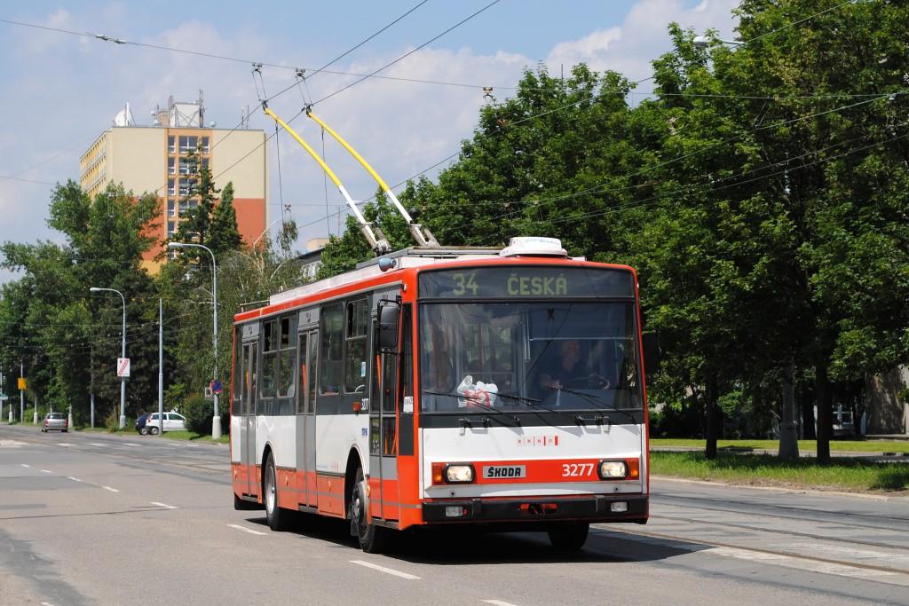 Fotogalerie » Škoda 14TrR 3277   Brno   střed   Kounicova