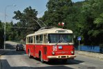Trolejbus 9Tr na lince H24 v Jundrově
