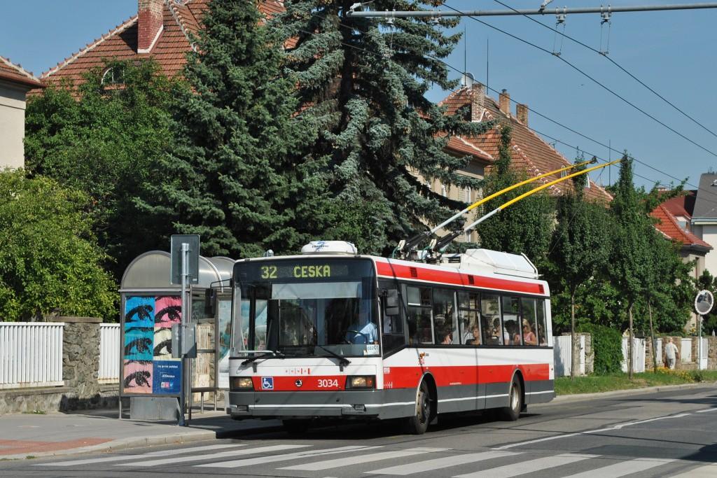 Fotogalerie » Škoda 21Tr 3034 | Brno | Královo Pole | Charvátská | Charvátská