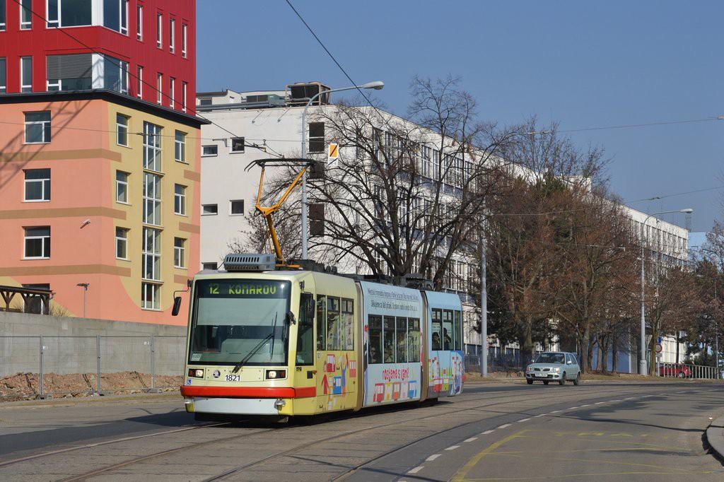Fotogalerie » Škoda 03T7 1821 | Brno | Královo Pole | Purkyňova | Červinkova