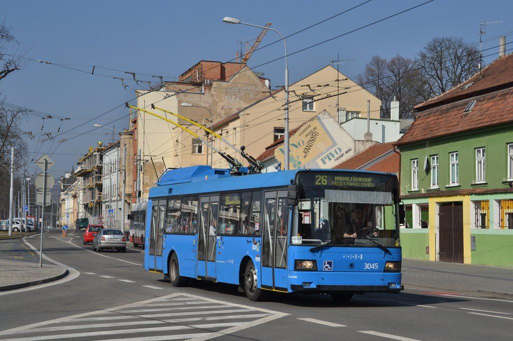 Fotogalerie » Škoda 21Tr 3045 | Brno | Pisárky | Hlinky
