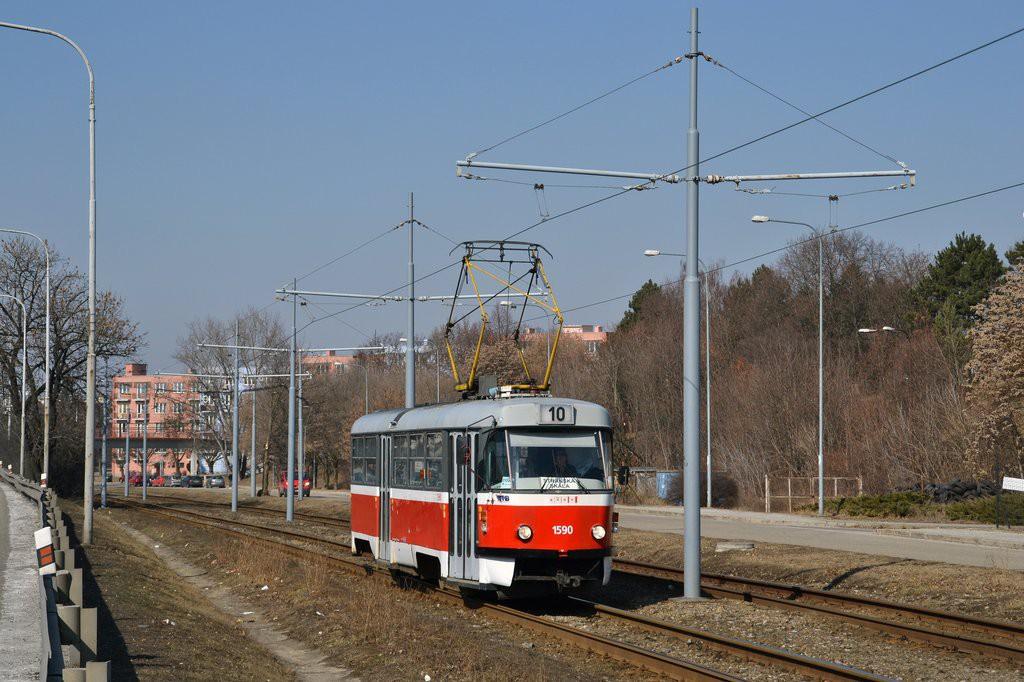 Fotogalerie » ČKD Tatra T3 1590 | Brno | Židenice | Pod Sídlištěm