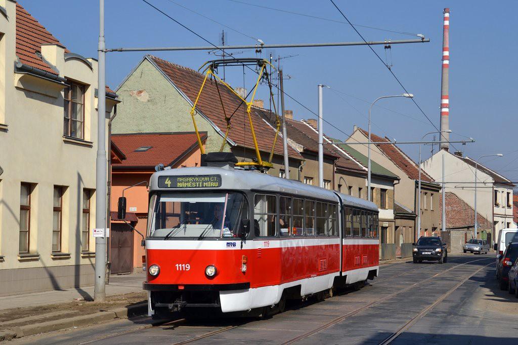 Fotogalerie » ČKD Tatra K2P 1119 | Brno | Husovice | Valchařská