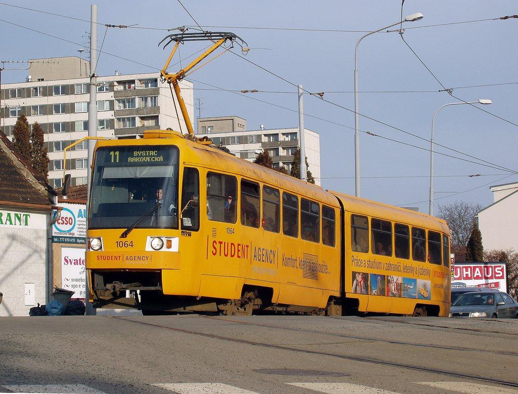 Fotogalerie » ČKD Tatra K2R 1064 | Brno | Žabovřesky | Rosického náměstí