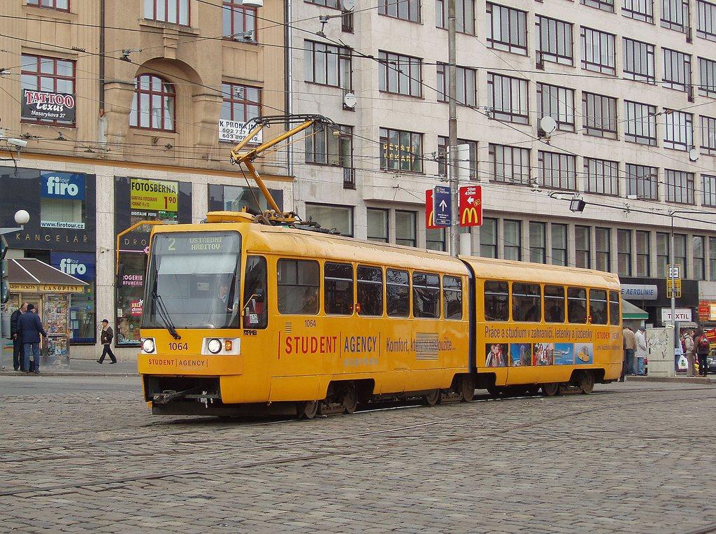 Fotogalerie » ČKD Tatra K2R 1064 | Brno | střed | Nádražní | Hlavní nádraží