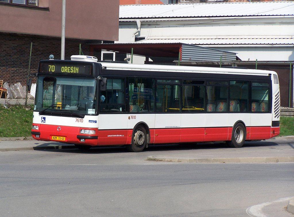 Fotogalerie » Irisbus Citybus 12M 2071.20 7610 | Brno | Královo Pole | Budovcova | Královo Pole, nádraží