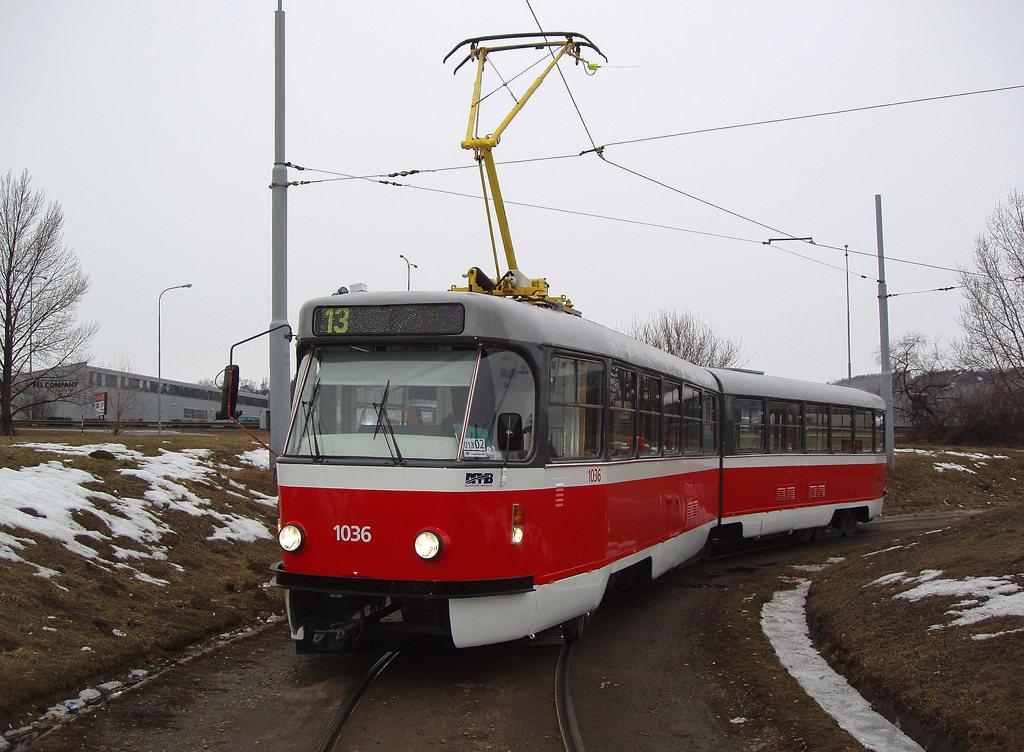 Fotogalerie » ČKD Tatra K2P 1036 | Brno | Královo Pole | Purkyňova | Technické muzeum, smyčka