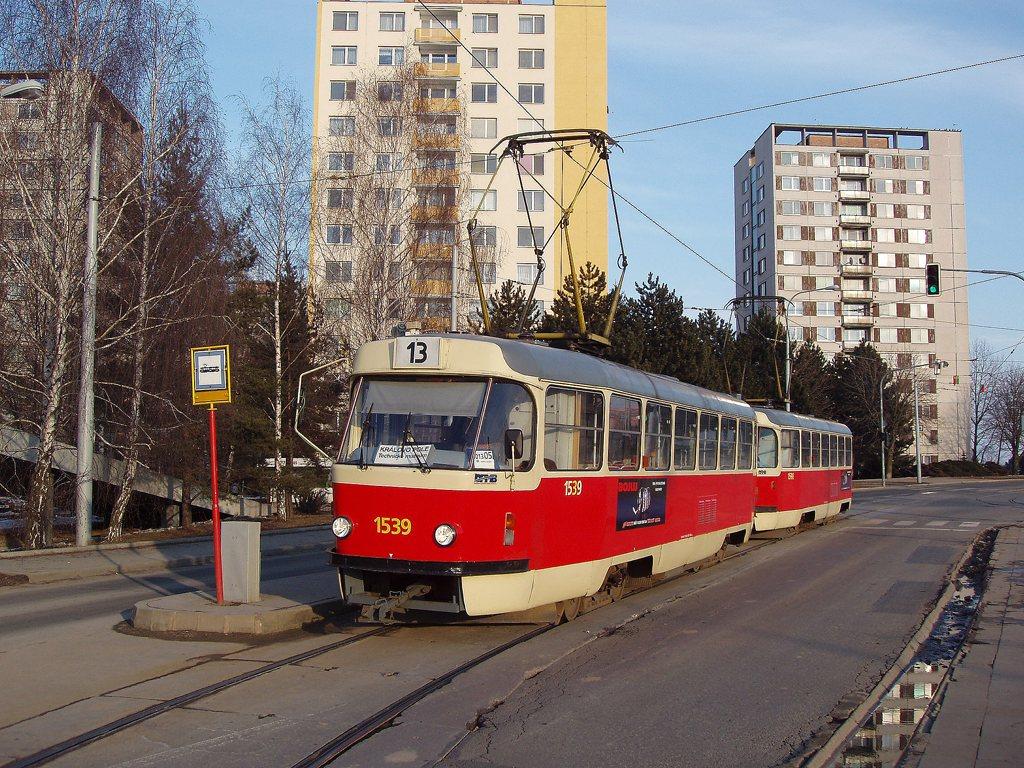 Fotogalerie » ČKD Tatra T3 1539 | ČKD Tatra T3 1598 | Brno | Královo Pole | Purkyňova | Technické muzeum, smyčka