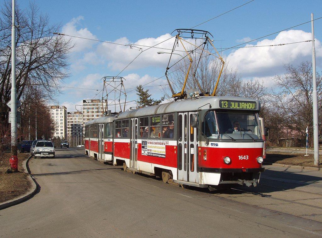 Fotogalerie » ČKD Tatra T3G 1643 | ČKD Tatra T3G 1644 | Brno | Královo Pole | Purkyňova