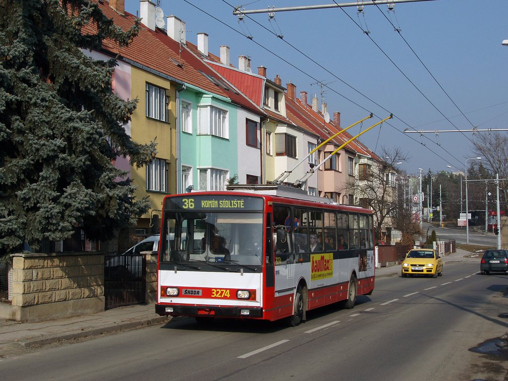 Fotogalerie » Škoda 14Tr17/6M 3274   Brno   Žabovřesky   Kroftova
