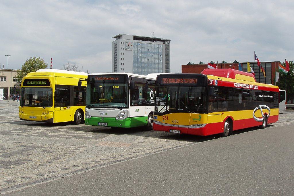Fotogalerie » TEDOM Tedom 123 G | Irisbus Citelis 12M CNG | Solaris Urbino 12 CNG | Brno | Výstaviště BVV