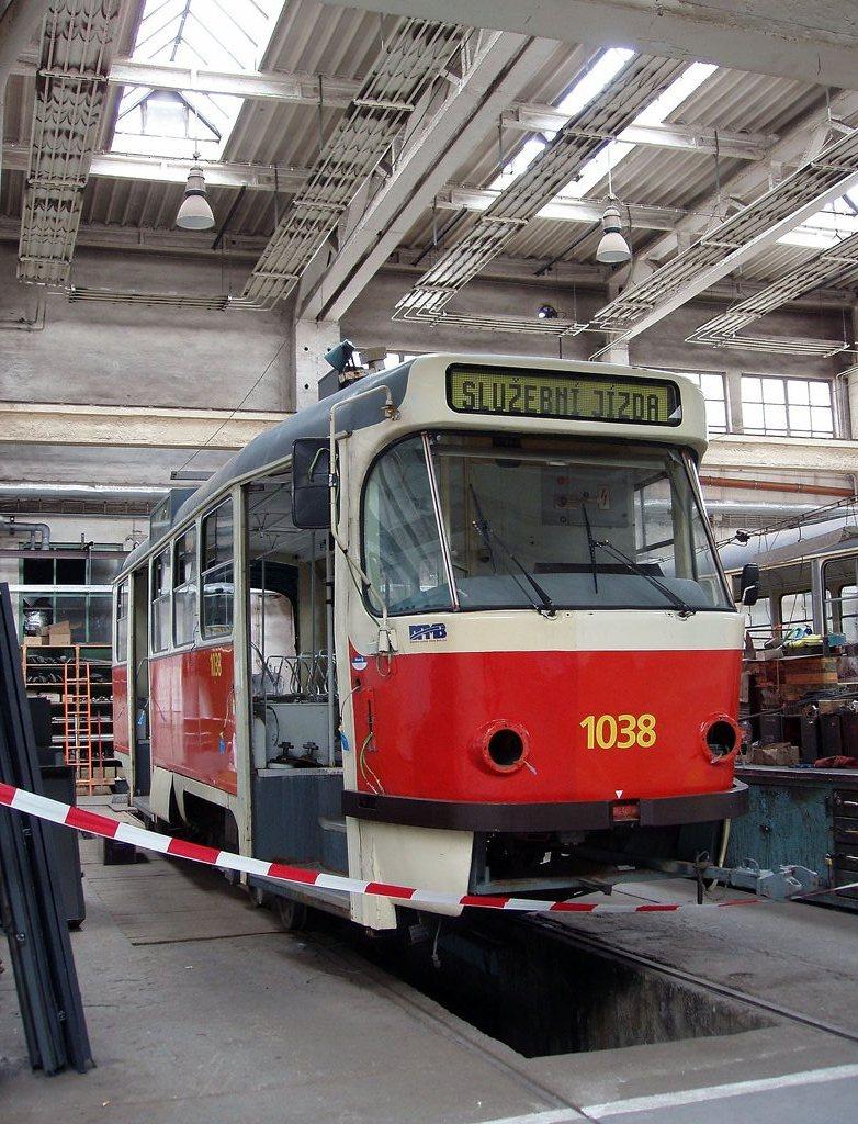 Fotogalerie » ČKD Tatra K2T 1038 | Brno | Ústřední dílny