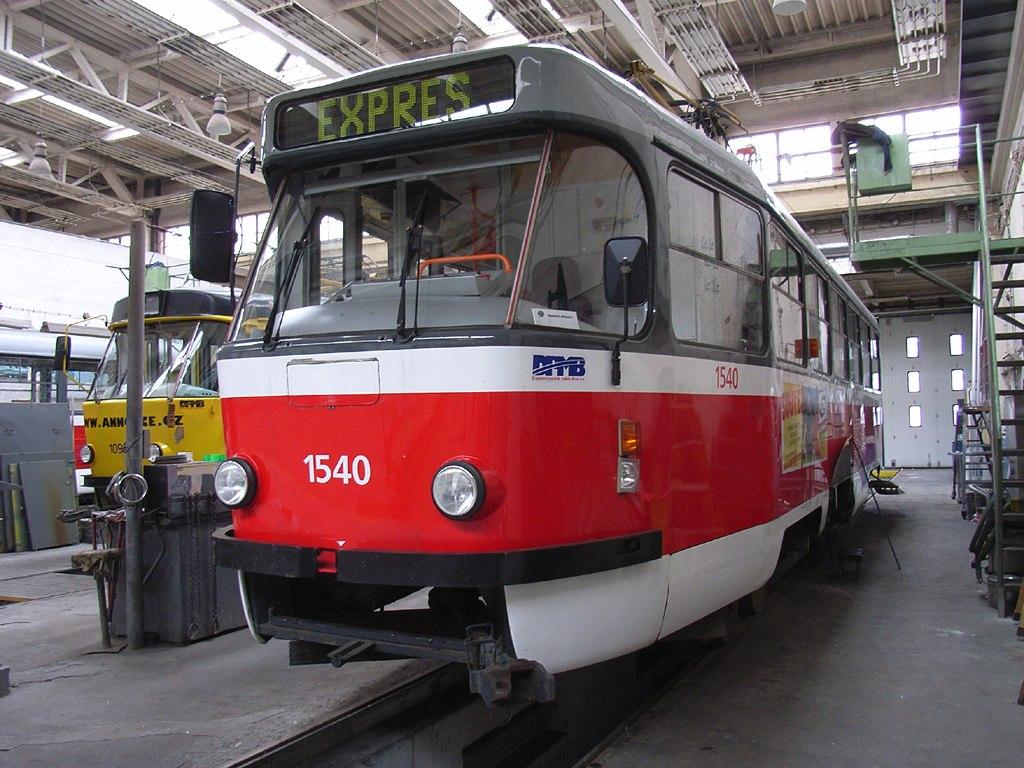Fotogalerie » ČKD Tatra T3M 1540 | Brno | Ústřední dílny