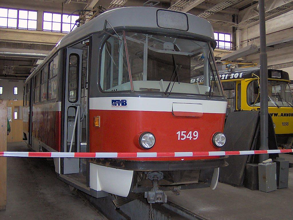 Fotogalerie » ČKD Tatra T3 1549 | Brno | Ústřední dílny