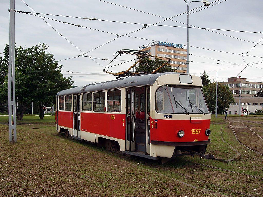 Fotogalerie » ČKD Tatra T3 1567 | Brno | vozovna Medlánky