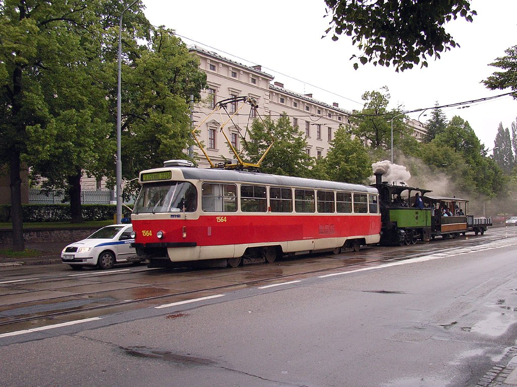 Fotogalerie » ČKD Tatra T3P 1564   Kraus&Co Caroline 10   ? vp1 25   Brno   Ponava   Štefánikova
