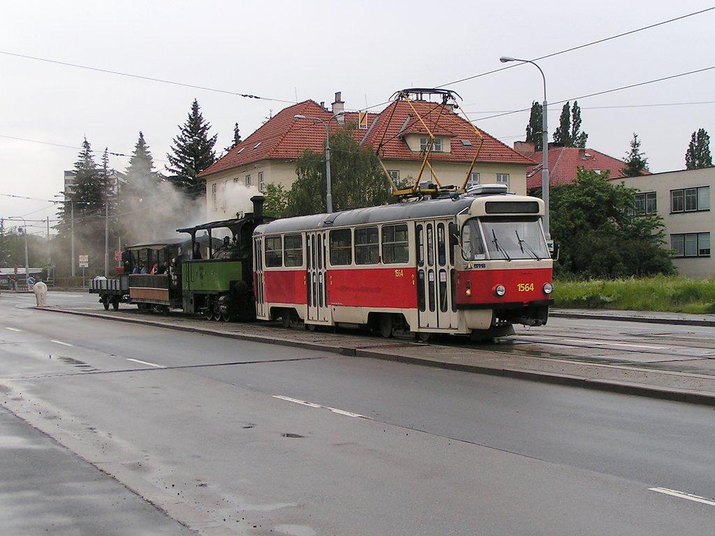 Fotogalerie » ČKD Tatra T3P 1564   Kraus&Co Caroline 10   ? vp1 25   Brno   Královo Pole   Palackého