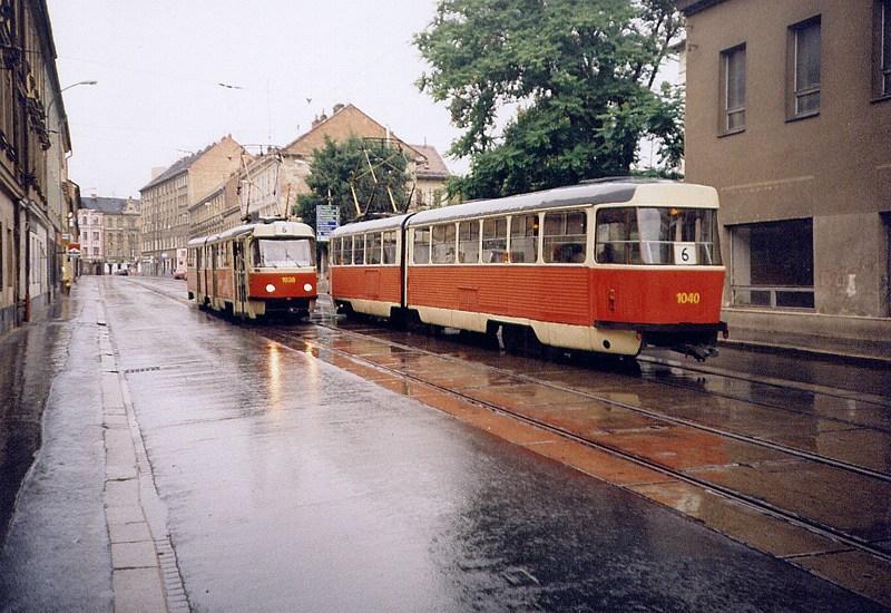 Fotogalerie » ČKD Tatra K2 1038 | ČKD Tatra K2 1040 | Brno | Staré Brno | Václavská | Václavská