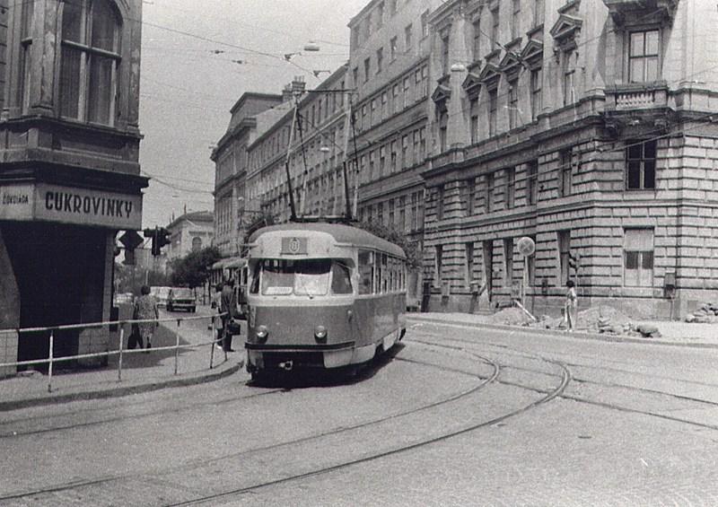 Fotogalerie » Tatra T2R 1410   Brno   střed   Husova