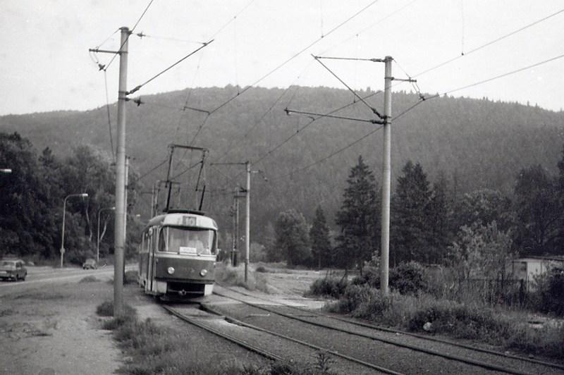 Fotogalerie » ČKD Tatra T3 1573 | Brno | Komín | Bystrcká